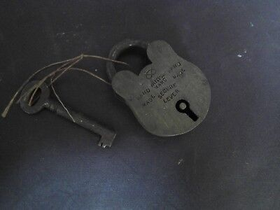 Old Antique Vintage Brass Padlock  With Key