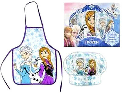 + Scatola Frozen Set 2 Pezzi  Mini Chef Grembiule Cappello Blisterato
