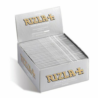 Rizla 1600 CARTINE silver king size slim box da 50 libretti