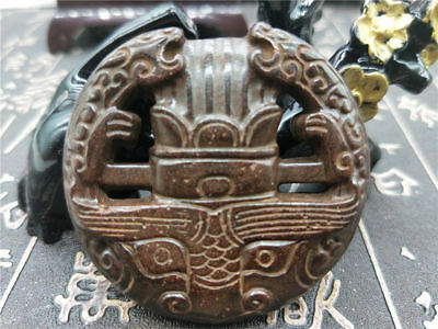 Old China Hand-carved jade pendants worn aristocratic art collection Q50