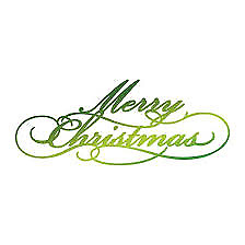 22.Ultimate Crafts Hotfoil Stamp Merry Christmas