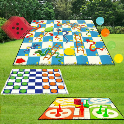 Draughts / Snakes and Ladders / Ludo / Drafts Giant Garden Games Sets Outdoor