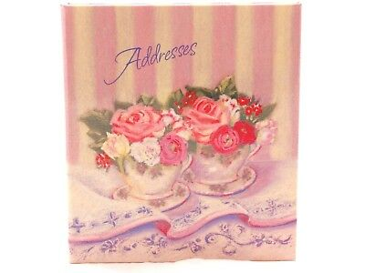 "NEW!!!! Old Stock Hallmark Address Book ""Tea & Roses"" RA5105."