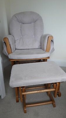 KUB Haywood glider chair and footstool beige/natural, good condition