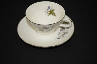 Triumph Homer Laughlin Fine China Cup and Saucer Blue Berries 1100 #34