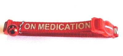 On Medication Reflective Red Ancol Safety Release Clip Cat Collar And Bell