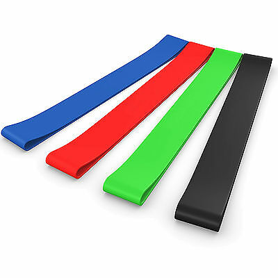 LOOP RESISTANCE SUPERBANDS PULL UP GYM FITNESS EXERCISE WORKOUT 4 TYPES Training