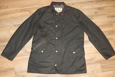 Barbour Prestbury Waxed Cotton Jacket OLIVE   size XL *See Listing
