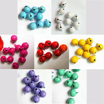 10 pcs Xmas Santa Bronze Beads Christmas Jingle Bell Bells Pendants 14mm Happy