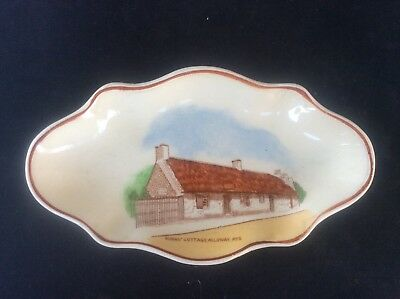 Glasgow Scottish 1938 Empire Exhibition WH GOSS Trinket Dish 2 Burns Cottage Ayr
