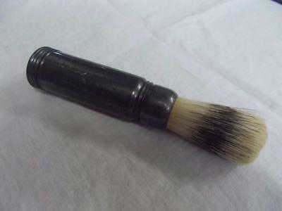 Vintage Man's Shaving Brush in Metal Case Marked w Swastika Sterilized NYC USA