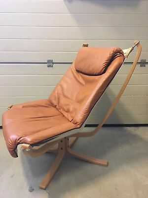 Vintage FALCON LOUNGE CHAIR BY SIGURD RESSELL FOR VATNE MOBLER, 1970S ,High Back