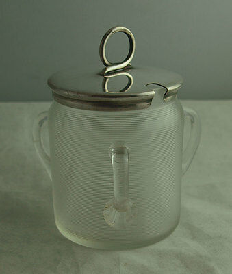Unusual Three Handled Silver Plated Preserve Jar.