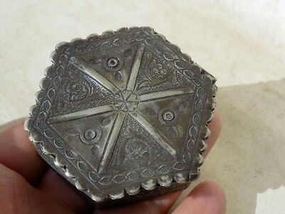 Medieval Decorated Silver Box 51 Grams