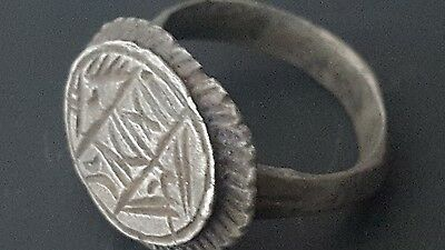 viking silver ring with runes 7th-8th century
