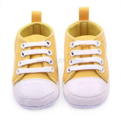 Yellow 0-3 Months Infant Newborn Baby Boy Girl Kid Soft Sole Shoes Sneaker Hot