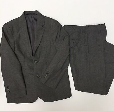 Cherokee Boys' Grey 2 Piece Suit Size 7 Dress Pants Jacket Holiday