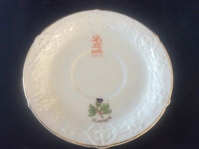 Glasgow Scottish 1938 Empire Exhibition WH GOSS Saucer for Cup Thistle Design 9