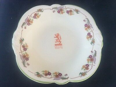 Glasgow Scottish 1938 Empire Exhibition WH GOSS Floral Design Sandwich Plate 10