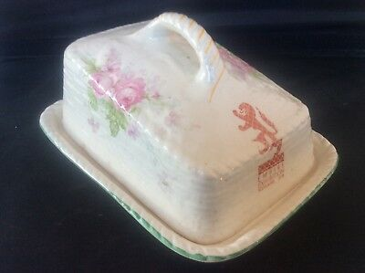 Glasgow Scottish 1938 Empire Exhibition WH GOSS Floral Design Butter Dish 11