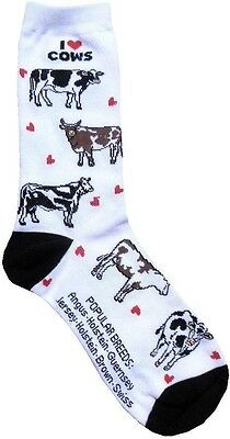 I love Cows (6603) Women Socks Cotton New Gift Fun Unique Fashion