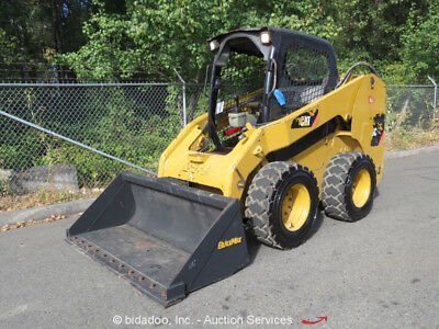 "2009 Caterpillar 246C Skid Steer Wheeled Loader Q/C Aux Hyd 68"" Bucket bidadoo"