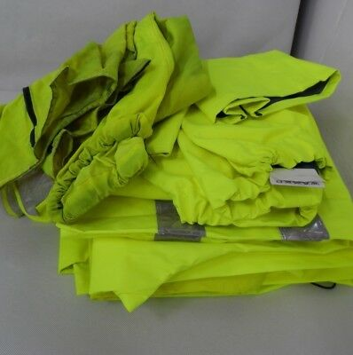 7 x Hi-Vis Waterproof Overproof Trousers Mixed Style & Sizes High Visability