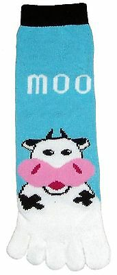 Cow Moo (TS012) Toe Socks New Gift Fun Unique Cute
