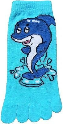 Dolphin (TK017) Kid Toe Socks New Gift Fun Unique Cute