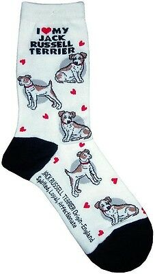 I Love My Jack Russell Terrier (631095)  Women Socks Cotton New Gift Fun Unique