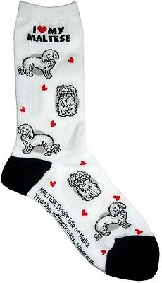 I Love My Maltese (631108) Women Size Socks