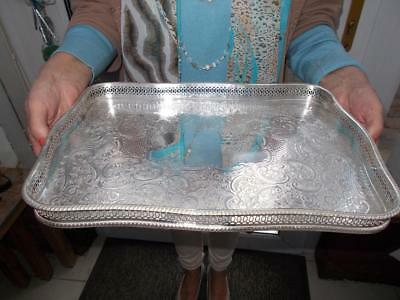 Vintage Arthur Price Silver Plated Serpentine Gallery Tray Lovely Condition