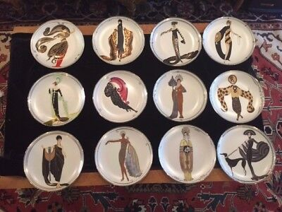 House Of Erte Collectible Porcelain 12 Plates in excellent condition
