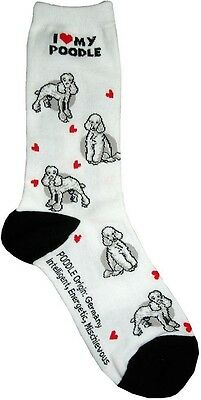 I Love My Poodle (631103) Women Size Socks