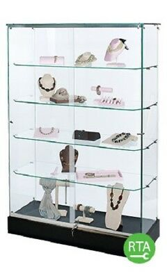 "Retail Display Cases - 9 Infinity Glass Showcases (48""W x 72""H) Lock & Lights"