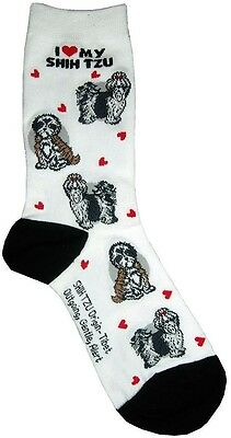I Love My Shih Tzu (631102) Women Socks Cotton New Gift Fun Unique Fashion