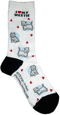 I Love My Westie (631103) Women Socks Cotton New Gift Fun Unique Fashion