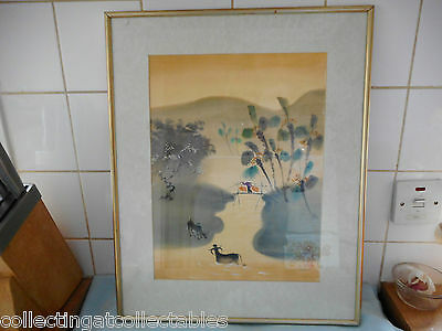 Chinese Ink Wash Painting  (Signed with artist and  Seal) Landscape Scene