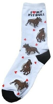 I Love My Pitbull (631113) Women Socks Cotton New Gift Fun Unique Fashion