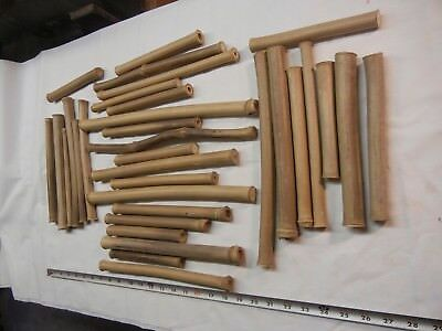 Bamboo for Flutes. 33 pieces. Various Sizes