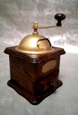 Wooden Coffee Grinder with Metal Top Vintage Style Brand New