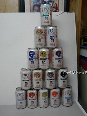 1992 Diet Coke Soda Pop Can (Empty) NFL Collection Series YOUR CHOICE