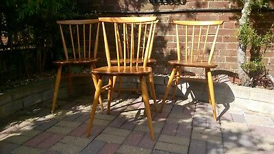 Vintage Ercol  Dining Chairs x4