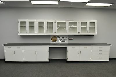 -Laboratory 18' BASE 13' WALL Furniture / Cabinets / Case Work / Benches / Tops-
