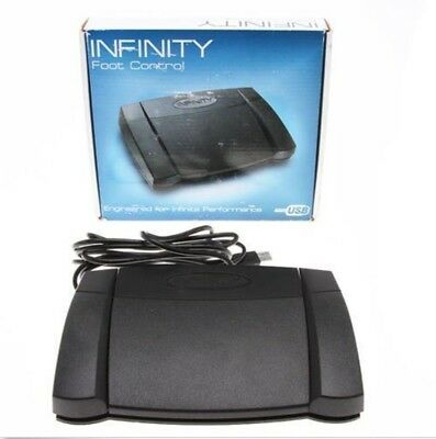 Infinity IN-USB-2 Foot Control Pedal for Computer Transcription + (3) FREE Books