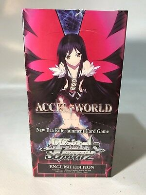 Weiss Schwarz TCG Accel World English 20 pack Booster Box Sealed New