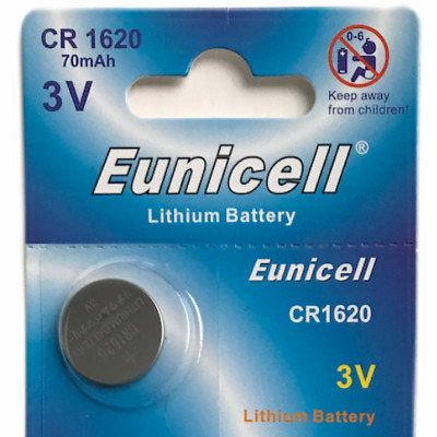 1 X Eunicell Cr1620 Dl1620 3 Volt Lithium Button/coin Batteries For Car Key Fob
