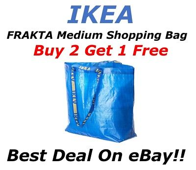 **BUY 2 GET 1 FREE** IKEA FRAKTA Medium Bag Shopping Grocery Laundry Storage Eco