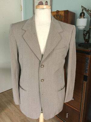 Vintage 1940's Green Covert Cloth Sport Coat by Griffin Clothes!