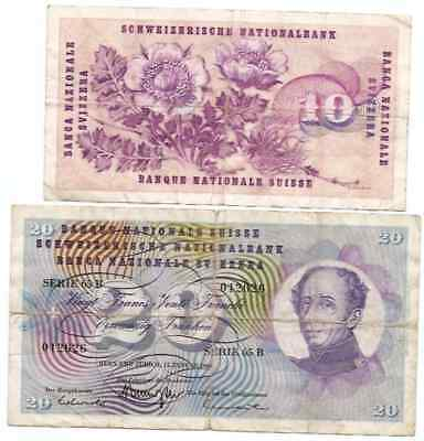 Switzerland National Bank 2 Notes 30 Francs